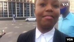Advocate Fadzayi Mahere Mutauriri weMDC Alliance Vachitaura Pamusoro Pezvaitika