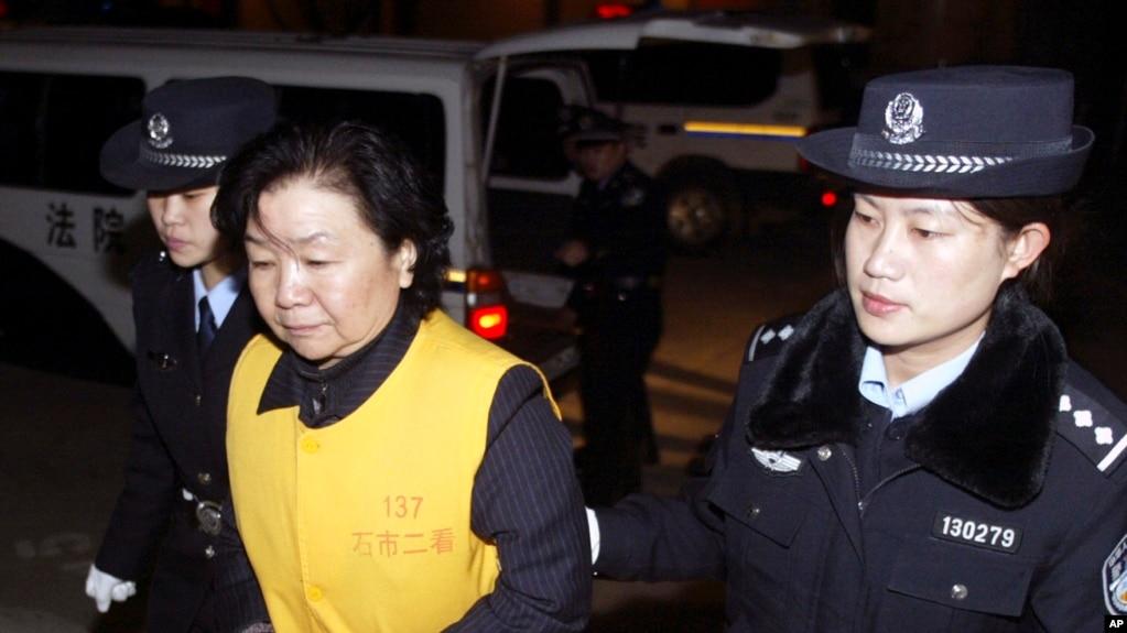 资料照 田文华2008年12月31号在石家庄法庭受审