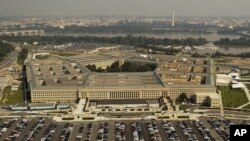 FILE - Aerial photo of the Pentagon.