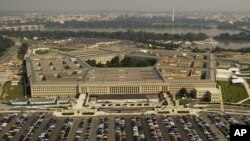 FILE - Aerial photo of the Pentagon outside Washington D.C.