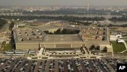 FILE - Aerial photo of the Pentagon outside Washington D.C.
