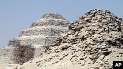 The step pyramids of Saqqara, believed to be the world's oldest carved stone structures, 8 Jul 2010