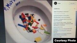 Korisnik instagrama simbolično bacio lego kockice u toalet