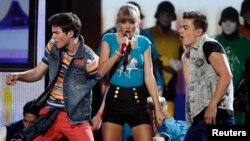 Taylor Swift actuando durante la entrega de premios Billboard, en Las Vegas, Nevada.
