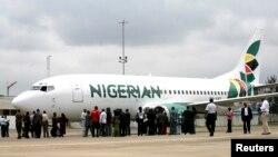 La compagnie aérienne Nigerian Eagle Airlines à Lagos, le 18 septembre 2009.