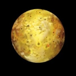 Io, one of Jupiter's moons, is the most volcanic object known to man, with at least 200 contstantly erupting volcanos.