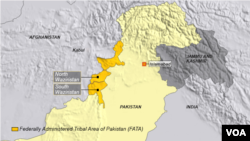 افغانستان سره په پوله پرته د پاکستان قبايلي سيمه شمالي وزيرستان