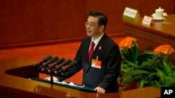中國最高法院院長周強在人大會議上作報告(2015年3月12日)