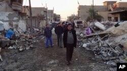 Последствия взрыва в провинции Киркук, Ирак. 17 декабря 2012 года