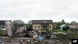 俄羅斯客機墜毀現場