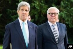 Ngoại trưởng Mỹ John Kerry và Ngoại trưởng Đức Frank-Walter Steinmeier tại Villa Borsig, Berlin, ngày 20 tháng 9, 2015.