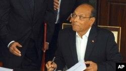 Moncef Marzouki, le président tunisien, le 27 janvier 2014.