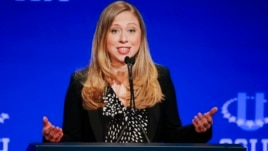 Chelsea Clinton, vice chair of the Clinton Foundation, speaks during a student conference for the Clinton Global Initiative University.