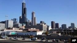 Kota Chicago di negara bagian Illinois, AS (foto: dok). Ekonomi di sepertiga kota-kota metropolitan Amerika akan menurun atau mandek tahun ini.