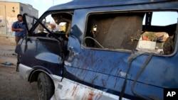 汽车炸弹爆炸后