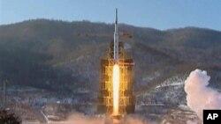 지난해 12월12일 발사한 '광명성 3호 2호기' 발사 장면.