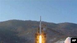 朝鮮較早前發射火箭(資料圖片)