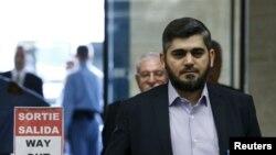 یکی از رهبران گروه های مخالف دولت بشار اسد که برای مذاکرات صلح به ژنو رفته است.