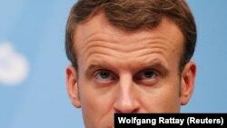 Shugaban Faransa Emmanuel Macron wanda ya kira taron na Majalisar Dinkin Duniya, MDD