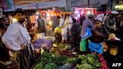 Một ngôi chợ ở trung tâm thủ đô Kabul