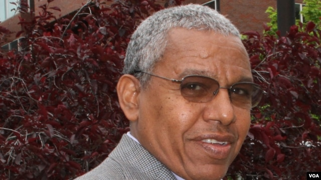 Seeye Abraha, former defense minister, in Boston, Massachusetts (Photo courtesy - Berhane Nguse)