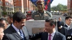 Los presidentes Nicolás Maduro y Xi Jinping en Venezuela, en julio de 2014.