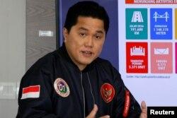 Erick Thohir, di Jakarta, 27 Februari 2019.