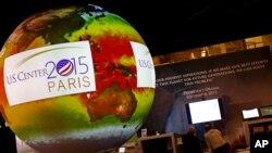 Le pavillon américain à la COP21,au Bourget, le 1er décembre 2015. (AP Photo/Francois Mori)