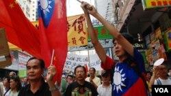 Các nhà hoạt động ở Hồng Kông biểu tình phản đối Nhật về vụ tranh chấp đảo