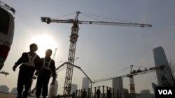 北京一建築工地。