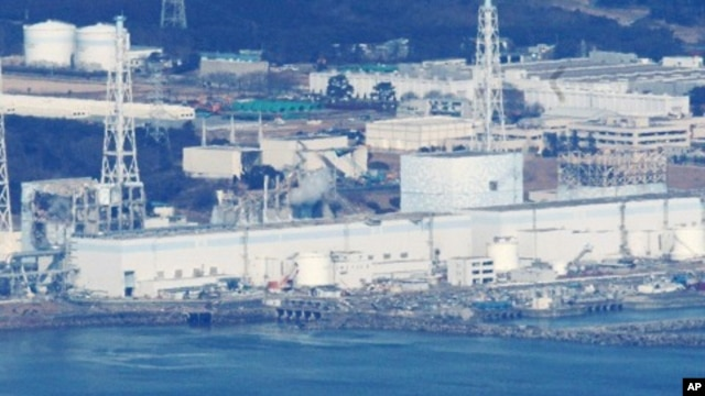 An aerial view of Fukushima Daiichi nuclear power plant in Fukushima, Japan, March 17, 2011