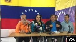 Los líderes de la oposición invitan a la población venezolana a una marcha que se llevará a cabo el 23 de enero y de la cual se conocerán detalles en los próximos días.