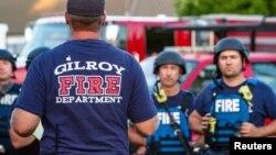 Ekipe hitne pomoći na mestu napada u Gilroju, Kaliforniji, 28. jul. 2019