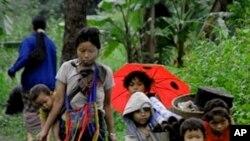 缅甸难民(资料照—)