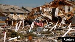 Razorene kuće u naselju Meksiko Bič na Floridi (Foto: Reuters)