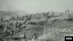 韓戰戰場志願軍 (視頻截圖)