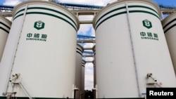 中储粮在辽宁沈阳的国家粮食存储设施。(2017年10月11日)