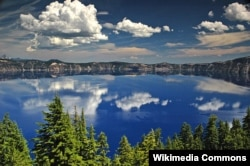 Reflections in Crater Lake