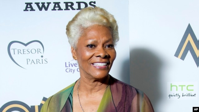 Dionne Warwick after receiving the lifetime acheivement award at the 2012 MOBO Awards in Liverpool, England, Nov. 3, 2012.