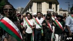 Les députés de l'opposition malgache dans les rues d'Antananarivo, le 25 avril 2018