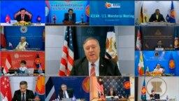 Ngoại trưởng Pompeo trong cuộc họp trực tuyến với các quan chức ngoại giao cấp cao Đông Nam Á.