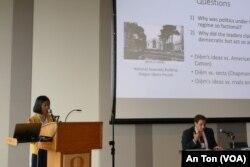 """Nhà nghiên cứu Nu-Anh Trần nói về """"dân chủ một phần"""" thời ông Ngô Đình Diệm; ĐH Oregon, 14/10/2019"""