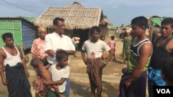 Người tị nạn Rohingya tại trại tạm cư Dar Pang ở ngoại ô thành phố Sittwe, Myanmar (Ảnh: Colin Lovett/VOA), ngày 4/6/2015.
