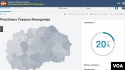 Presidential elections 2019 Macedonia second round voters turnout 13h