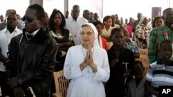 基督教徒去年12月25日在蘇丹一座教堂參加聖誕祈禱(資料照片)