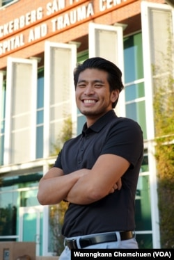Jirayuth Latthivongskorn, a DACA recipient, at ZSFG hospital, where he's a resident in training.