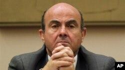 23일 의회 청문회에 참석한 루이스 데 귄도스 스페인 재무장관.
