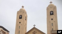 Eglise copte à Tanta, en Egypte, le 9 avril 2017.
