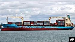 عکس آرشیوی از یک کشتی تجاری باری متعلق به شرکت «مرسک لاین»