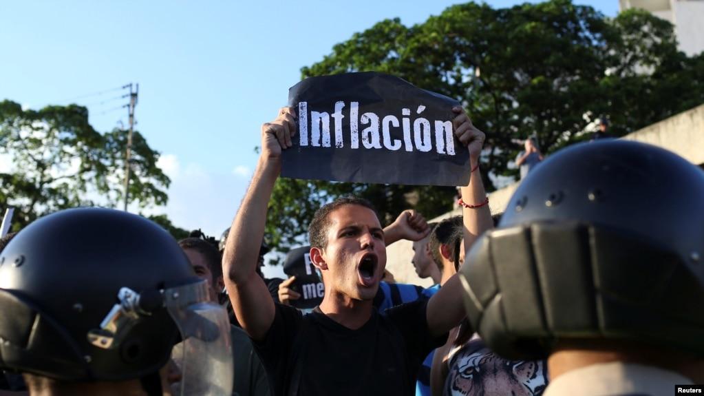 Biểu tình chống chính phủ ở Caracas, Venezuela.